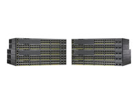 Cisco Catalyst 2960X-24PS-L - Switch - Administrerad - 24 x 10/100/1000 (PoE+) + 4 x Gigabit SFP - skrivbordsmodell, rackmonterbar - PoE+ (370 W) WS-C2960X-24PS-L