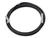 HPE Direct Attach Cable - Direktkopplingskabel - QSFP+ till QSFP+ - 3 m - dubbelaxlad 720199-B21